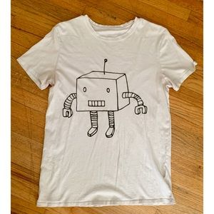 Other - White robot graphic tee